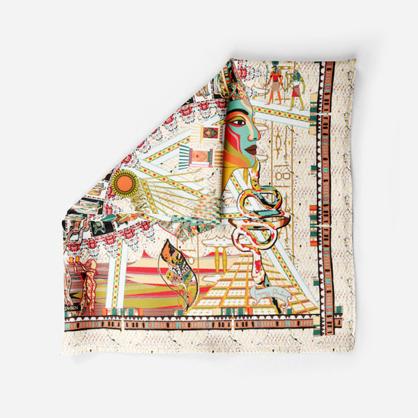Cleopatra Cream Empress Collection Silk Scarf