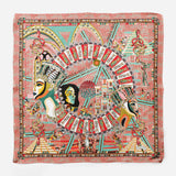 Cleopatra Orange Pink Empress Collection Silk Scarf