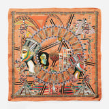 Cleopatra Salmon Empress Collection Silk Scarf