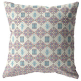 Coral Ocean Muted Pink Pillow