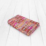 Kantha Repeat: Red, Hot Pink, Muted Orange, White, Magenta Woven Throw