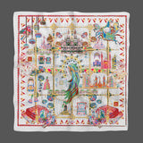 Catherine The Great Oil White Empress Collection Silk Scarf