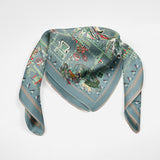 Catherine The Great Gray Blue Empress Collection Silk Scarf