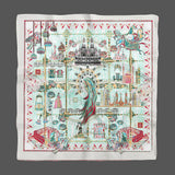 Catherine The Great Gray White Empress Collection Silk Scarf