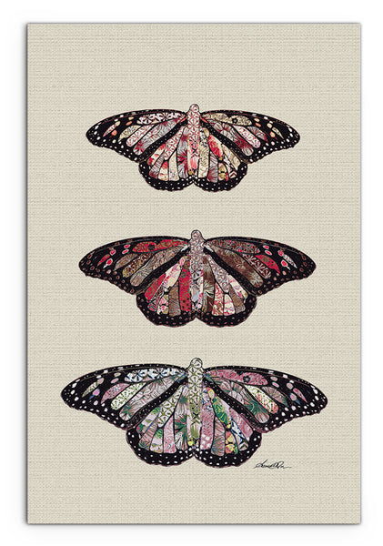 Amrita Sen Rustic Butterflies Thick-Wrap Canvas Wall Art 24x 36 inches vertical
