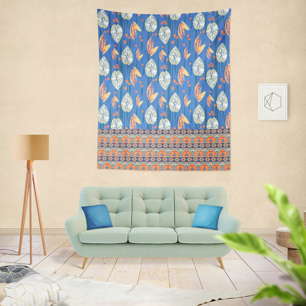 Tropical Forest Indoor Hemmed Tapestry
