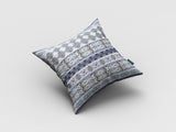Wild Flower Border Decorative Pillow