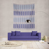 Wildflower Doorway: Blue Indoor Hemmed Tapestry
