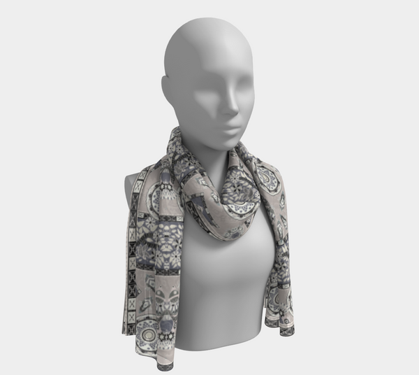 BollyDoll Fish Frame Gray Onlong Scarf