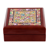 Ganesh Print Blue and Pink Jewelry Box