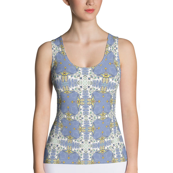 Blue and Yellow Buddha Tank