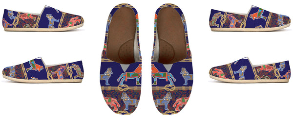 BollyDoll Horses and Ropes on Blue Canvas Shoe