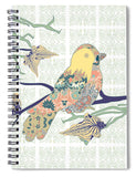 Yellow Masked Bird - Spiral Notebook