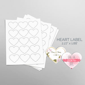 Picture of Sheets of paper with Die-Cut Heart Shaped Stickers