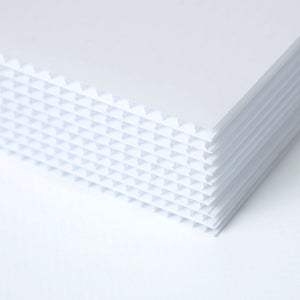 Picture of a Stack of Corrugated Plastic