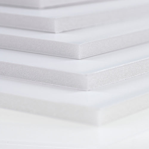 Stack of pre cut White foamboards