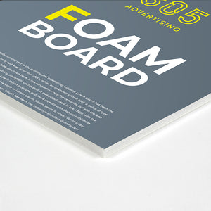 Pre cut foam board, close up, perfect corner cut, printedt