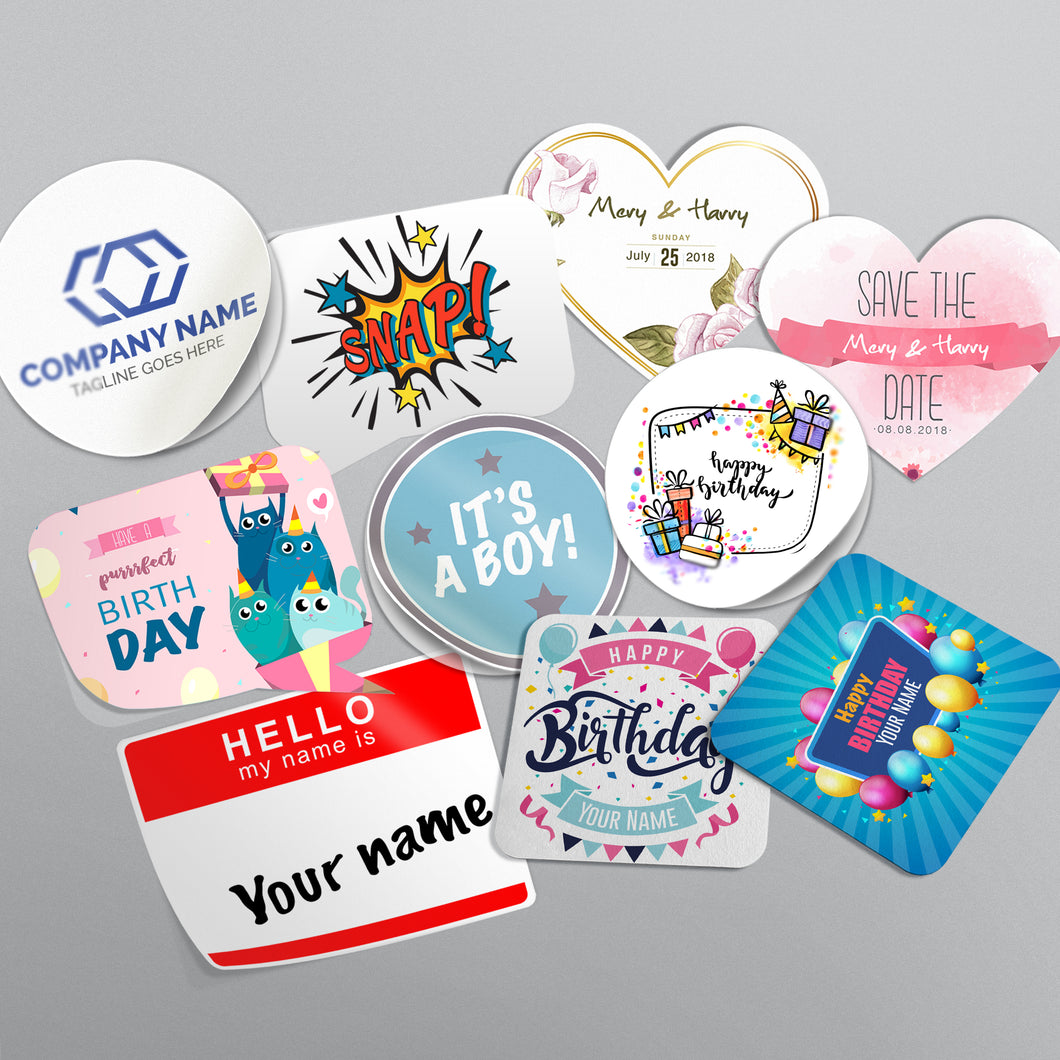 Custom labels & stickers   │ Free shipping