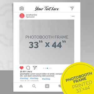 Custom printed Instagram post party frame, photo-booth frame 33x44 inches