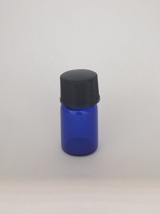 3pc Cobalt Blue Glass Bottles 2ml