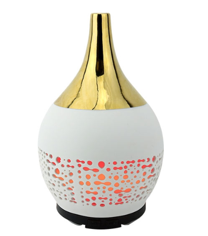 Ceramic Gold Ultrasonic Aroma Essential Oil Diffuser