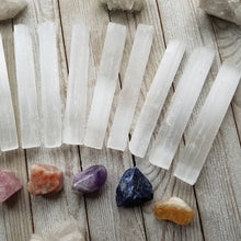 "Load image into Gallery viewer, Selenite Stick/Wand 4-5"" - Kind Gems"