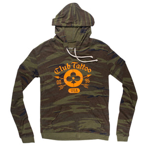 Women's Camo Archer Hoodie - Club Tattoo