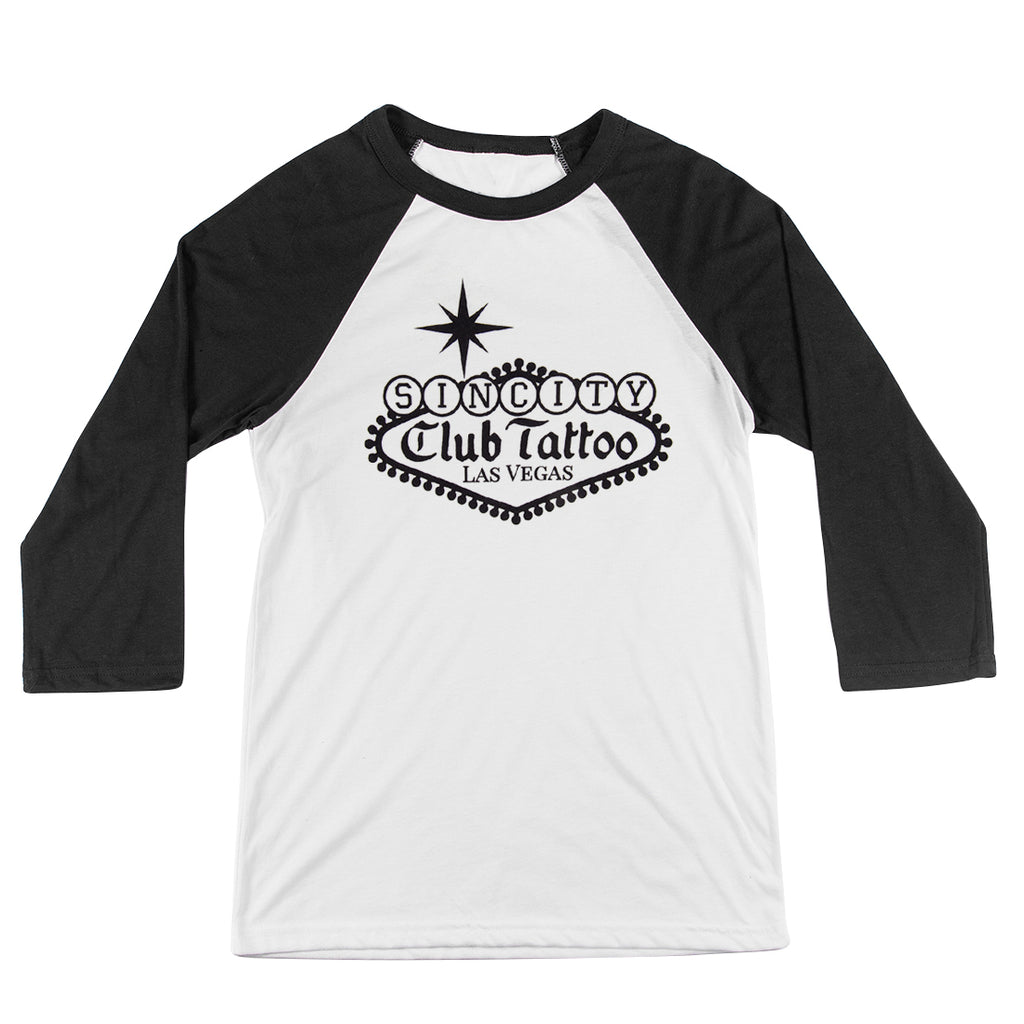 Classic Sin City Raglan - Club Tattoo