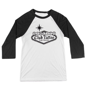 Open image in slideshow, Classic Sin City Raglan - Club Tattoo