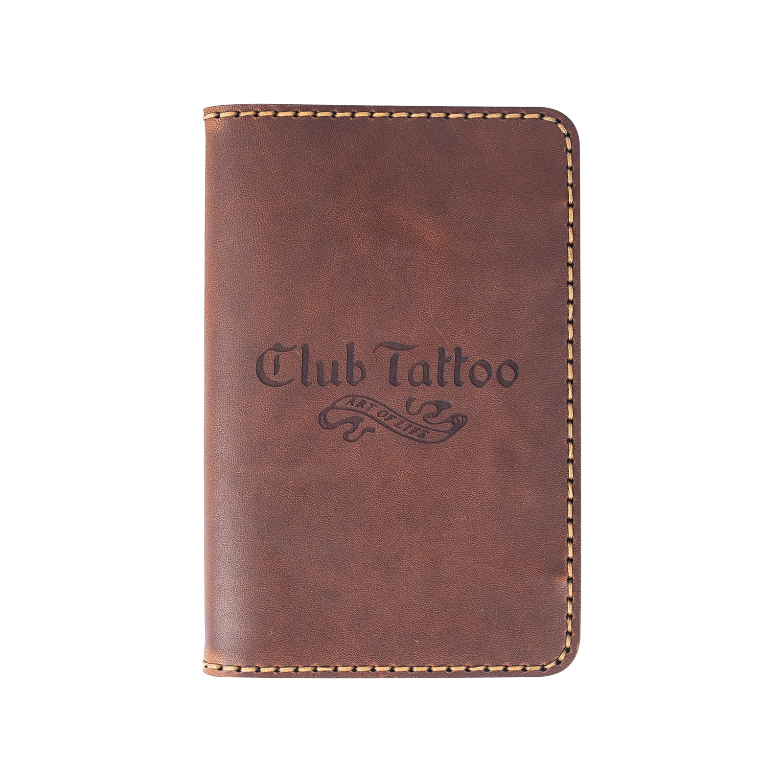 Leather Field Journal Wallet - Club Tattoo