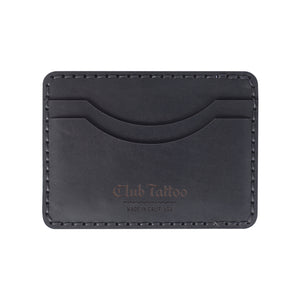 Open image in slideshow, Leather Hemlock Card Wallet - Club Tattoo