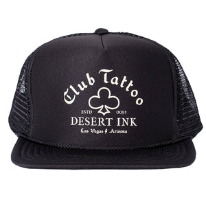 Desert Ink Hat - Black Mesh - Club Tattoo