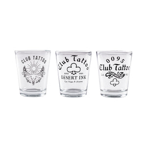 Club Tattoo Shot Glass Set