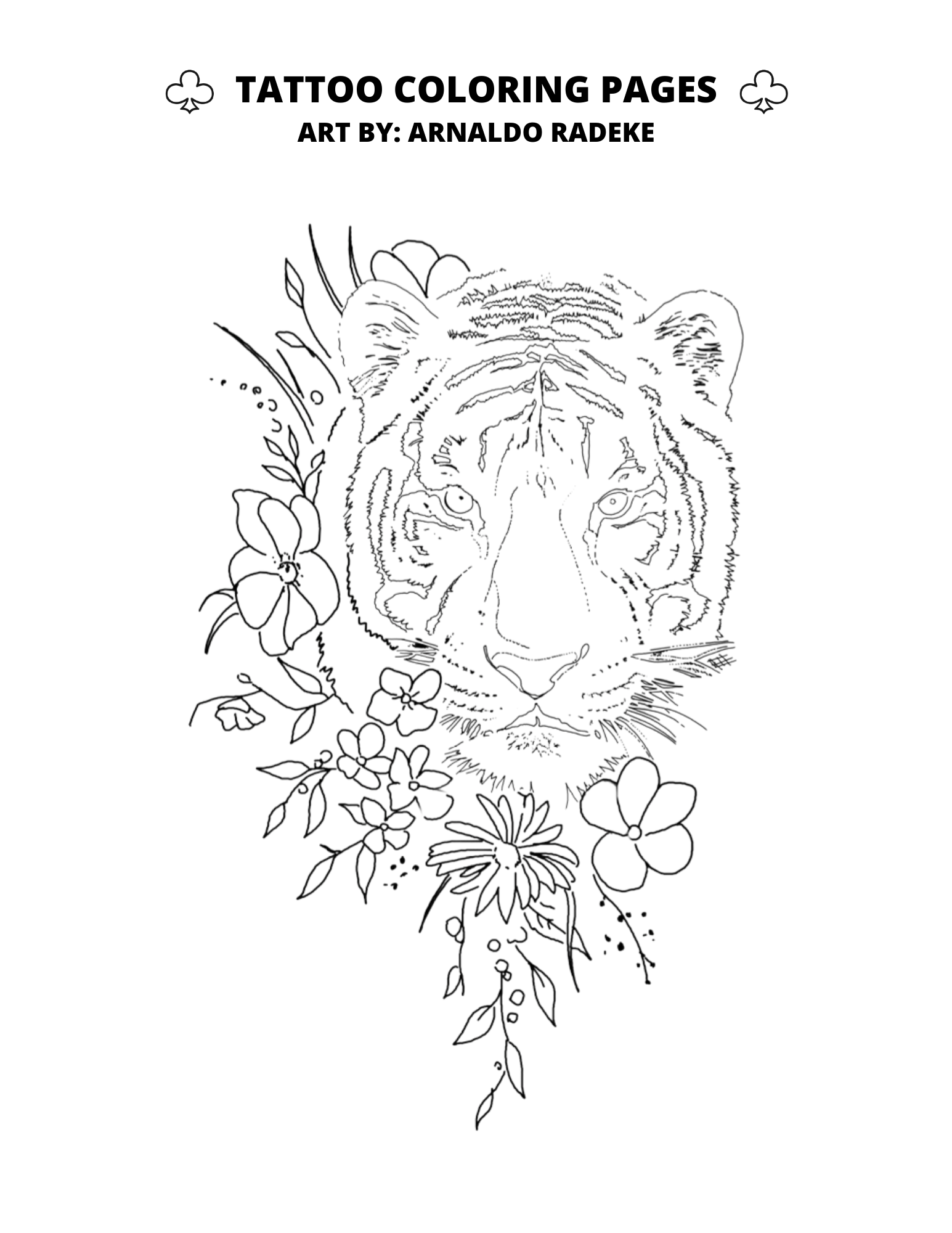 Tattoo Coloring Pages Club Tattoo