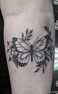Butterfly tattoo done by Amber   Club Tattoo