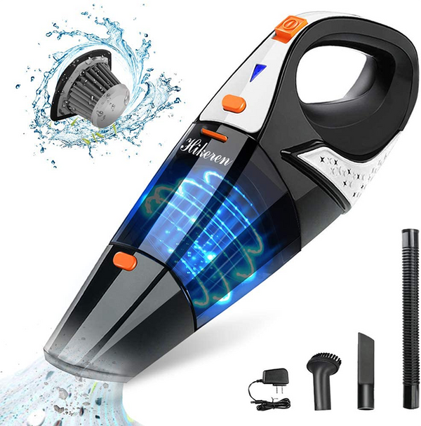 Hikeren Cordless Handheld Vacuum for Home and Car Cleaning, Orange