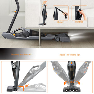 HIKEREN 3 in 1 Stick & Hand & Car Cordless Vacuum Cleaner H-603