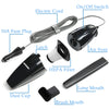 HIKEREN Car Corded Hand Portable Vacuum Cleaner H-116BK
