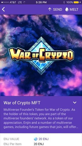 War of Crypto Multiverse Founders Token