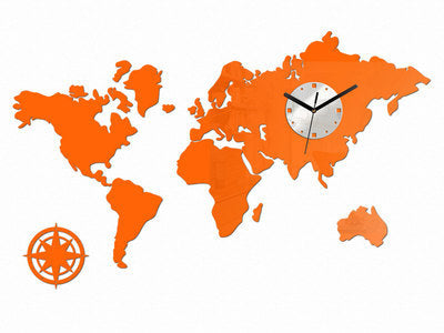 The World Map Wall Clock Creative Clock Home Supplies