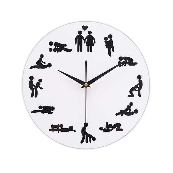 Living Room Creative Wall Clock Personality Math Wooden Minimalist Decorative Clock
