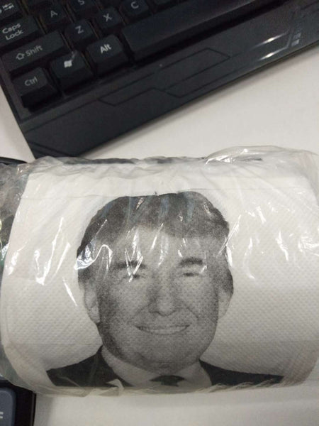 Trump Toilet Paper Roll Sheets Toilet Paper Roll Funny Political Gift 2019