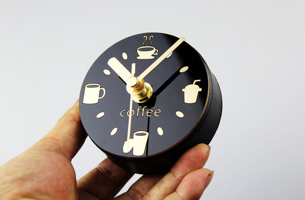 Refrigerator Clock Magnetic Sticker Coffee Cup Clock Hanging
