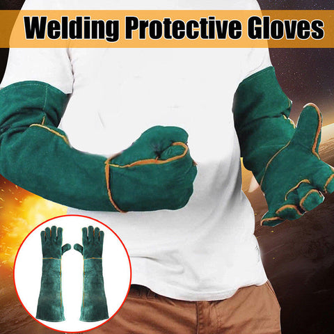 Green Gardening Welding Protective Gloves