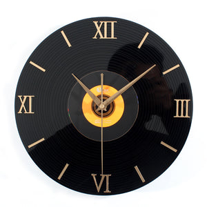 Phonograph Wall Clock Mute Clock In Living Room Wall