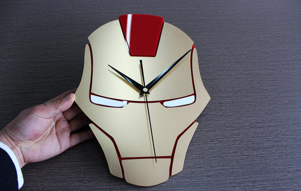 Iron Man Metal Texture Wall Clock Stereo Table Living Room Decoration Quartz Clock