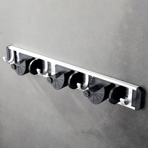 Broom Mop Holder Wall Mount Stainless Steel Wall Mounted Storage Organizer Heavy Duty Tools Hanger