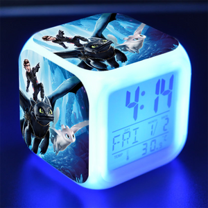 How to Train Your Dragon Alarm Clock Desk Clock Calendar for Kids