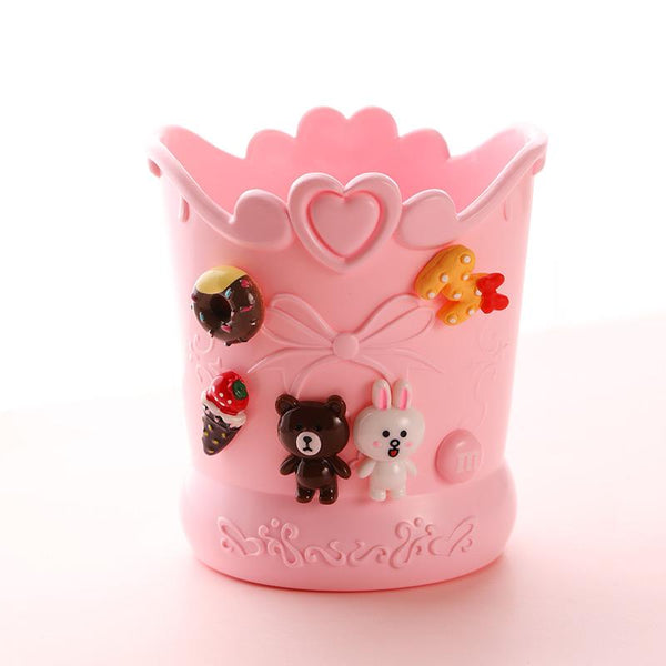 Kids Pen Pencil Holder Cute Cartoon Pencil Cup Use Desk
