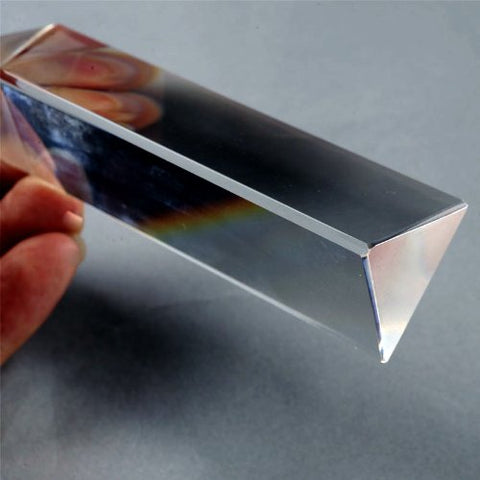 6 Inch Physics Teaching Precision Optical Glass Prism
